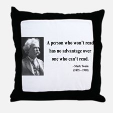 Mark Twain 3 Throw Pillow