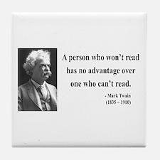 Mark Twain 3 Tile Coaster