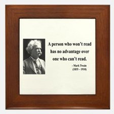 Mark Twain 3 Framed Tile