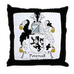 Pownall Family Crest Throw Pillow