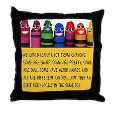 Peaceful Crayons Throw Pillow