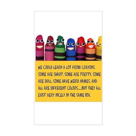 Peaceful Crayons Rectangle Sticker