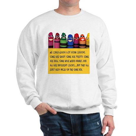 Peaceful Crayons Sweatshirt