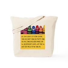 Peaceful Crayons Tote Bag