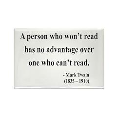Mark Twain 3 Rectangle Magnet (100 pack)