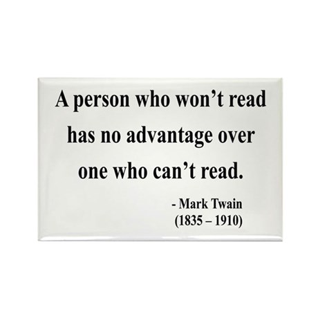 Mark Twain 3 Rectangle Magnet (10 pack)