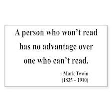 Mark Twain 3 Rectangle Decal