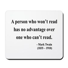 Mark Twain 3 Mousepad