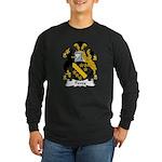 Povey Family Crest Long Sleeve Dark T-Shirt