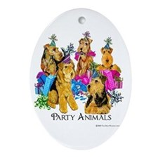 Welsh Terrier Party Ornament (Oval)
