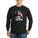 Poulter Family Crest Long Sleeve Dark T-Shirt