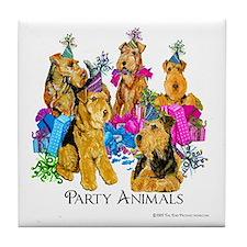 Welsh Terrier Party Tile Coaster