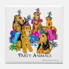 Welsh Terrier Party Tile Coaster