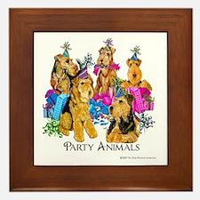 Welsh Terrier Party Framed Tile