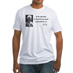 Mark Twain 4 Fitted T-Shirt