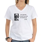 Mark Twain 4 Women's V-Neck T-Shirt