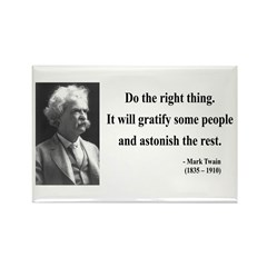 Mark Twain 4 Rectangle Magnet (10 pack)