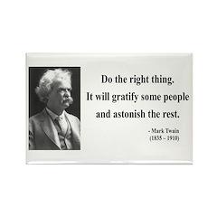 Mark Twain 4 Rectangle Magnet