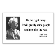 Mark Twain 4 Rectangle Decal
