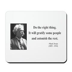 Mark Twain 4 Mousepad
