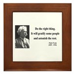 Mark Twain 4 Framed Tile