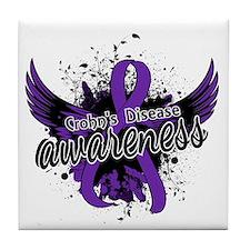 Crohn's Disease Awareness 16 Tile Coaster