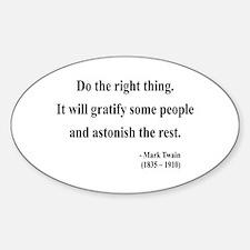 Mark Twain 4 Oval Decal