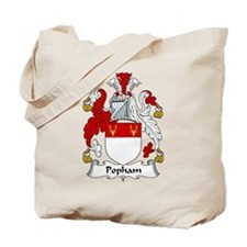 Popham Family Crest Tote Bag