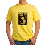 Mona's 2 Pugs Yellow T-Shirt