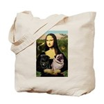 Mona's 2 Pugs Tote Bag