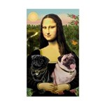 Mona's 2 Pugs Sticker (Rectangle)