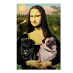 Mona's 2 Pugs Postcards (Package of 8)