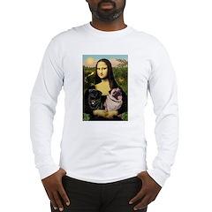 Mona's 2 Pugs Long Sleeve T-Shirt