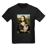 Mona's 2 Pugs Kids Dark T-Shirt