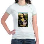 Mona's 2 Pugs Jr. Ringer T-Shirt