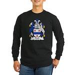 Poor Family Crest Long Sleeve Dark T-Shirt