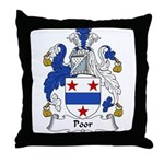 Poor Family Crest Throw Pillow