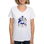 Poor Family Crest Women's V-Neck T-Shirt