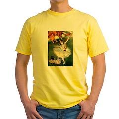 Dancer / 2 Pugs Yellow T-Shirt