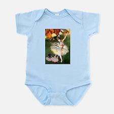 Dancer / 2 Pugs Infant Bodysuit
