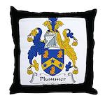 Plummer Family Crest Throw Pillow