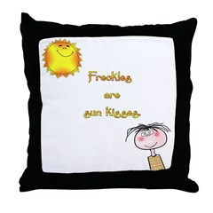 Freckles are Sun Kisses Throw Pillow