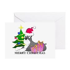 Schnauzer Christmas Greeting Card