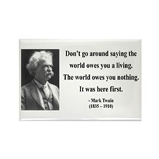 Mark Twain 5 Rectangle Magnet