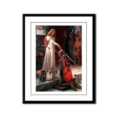 Accolade / 2 Pugs Framed Panel Print