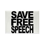 Save Free Speech Rectangle Magnet (100 pack)