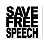 Save Free Speech Small Poster