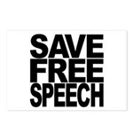 Save Free Speech Postcards (Package of 8)