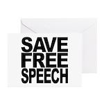 Save Free Speech Greeting Cards (Pk of 10)