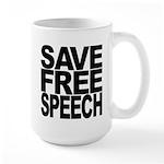 Save Free Speech Large Mug